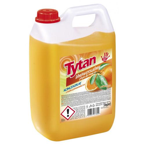Универсальная жидкость для мытья Титан  сладкий апельсин 5кг