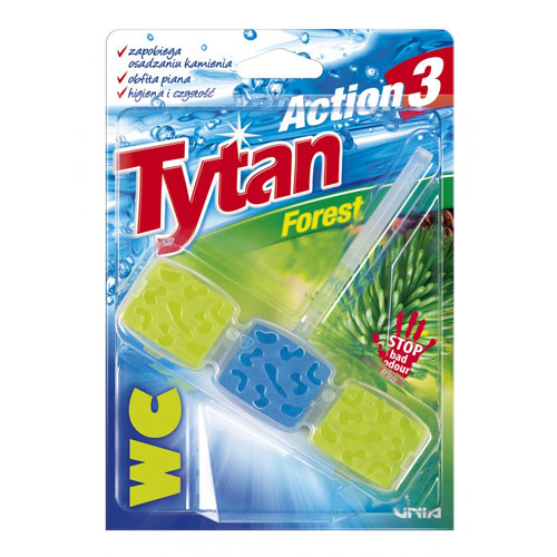 Kostka toaletowa do WC Tytan Action 3 Forest 45g