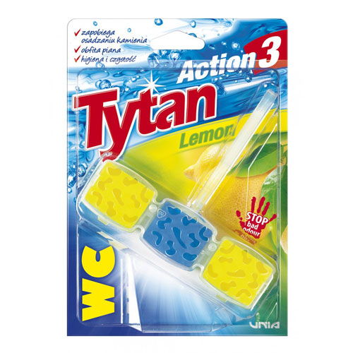 Kostka toaletowa do WC Tytan Action 3 Lemon