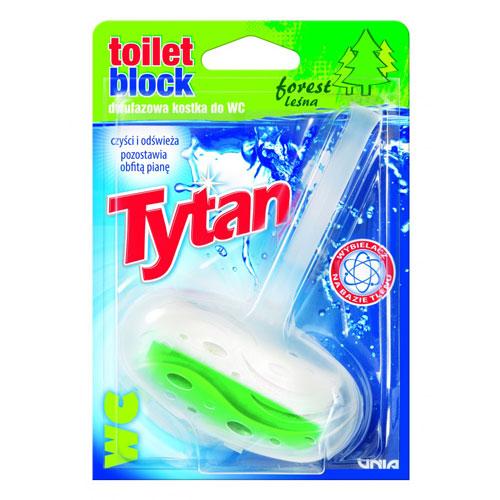Dwufazowa kostka do WC Tytan leśny koszyczek