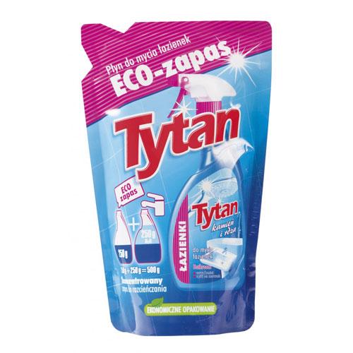 Płyn do mycia łazienek Tytan kamień i rdza ECO zapas