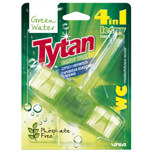 Tytan Tetrafunctional Automatic Toilet Bowl Liquid Cleaner Green Water
