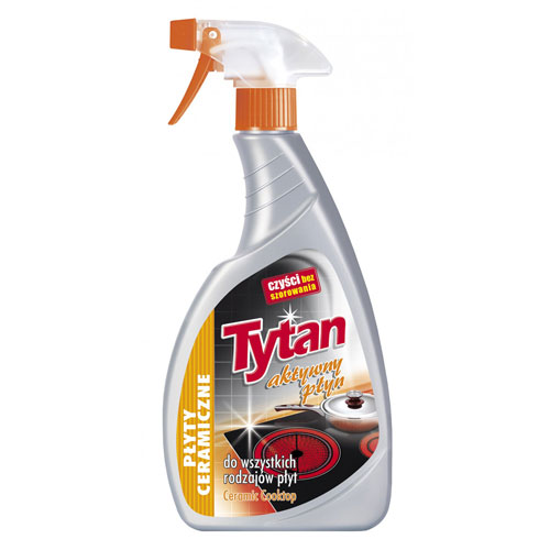 Płyn do czyszczenia płyt ceramicznych Tytan spray