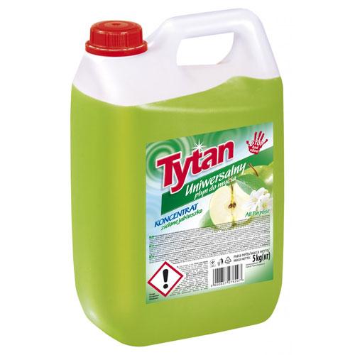 Универсальная жидкость для мытья Титан яблочная 5кг