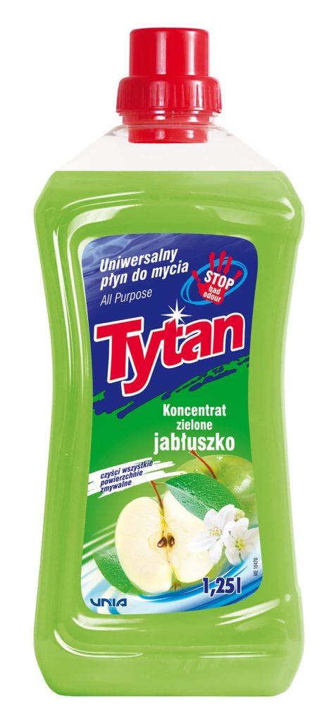 Uniwersalny płyn do mycia zielone jabłuszko Tytan koncentrat 1,25 l