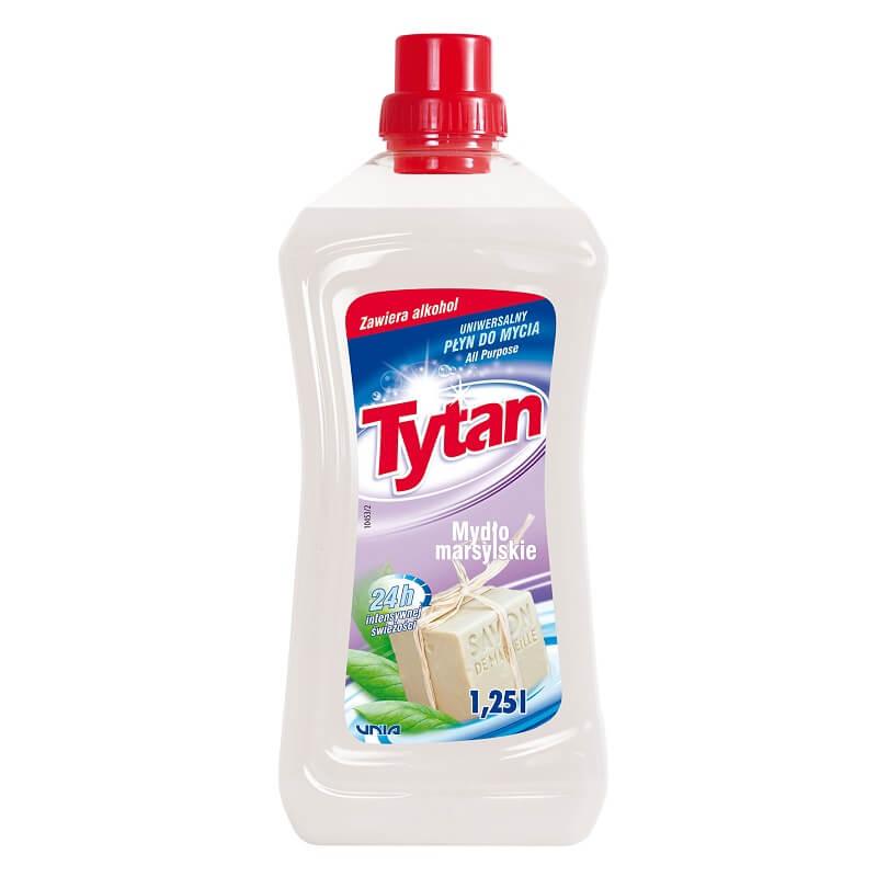 P23010 Tytan płyn uniwersalny do mycia mydło marsylskie 1,25L kwadrat