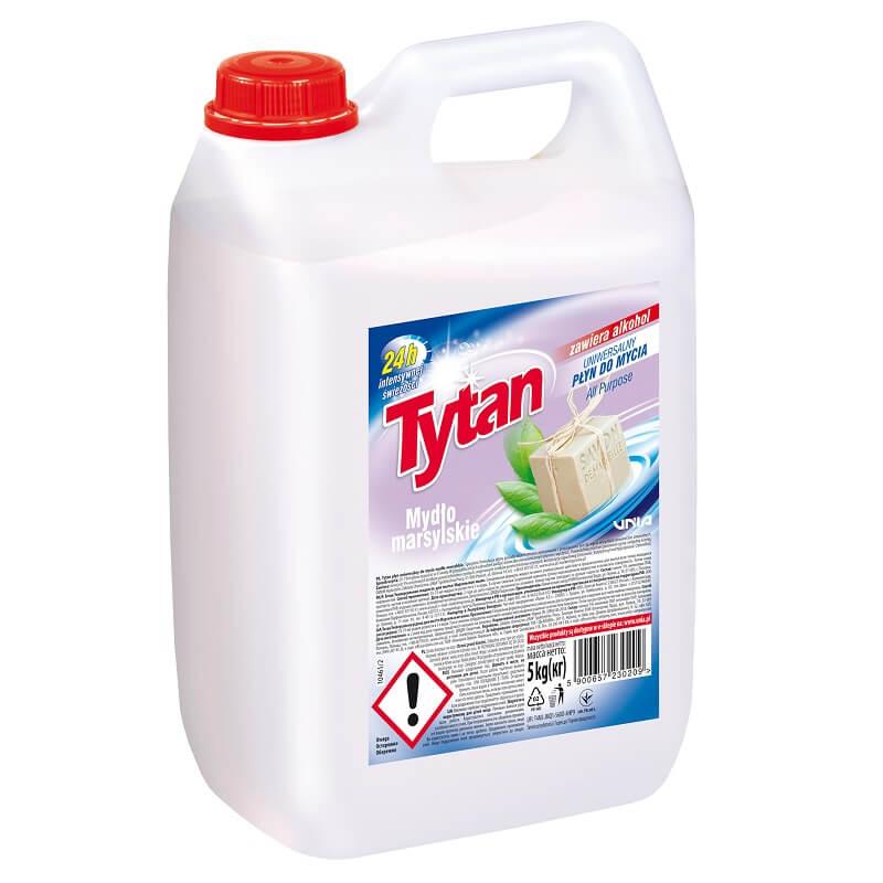 P23020 Tytan płyn uniwersalny do mycia mydło marsylskie 5,0kg kwadrat
