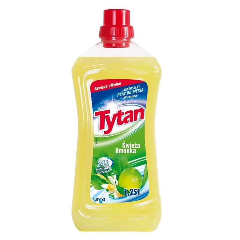 P23210 Tytan płyn uniwersalny do mycia świeża limonka 1,25L kwadrat