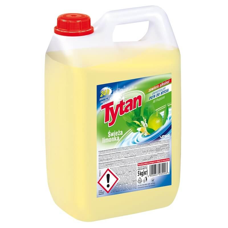 P23220 Tytan płyn uniwersalny do mycia świeża limonka 5,0kg kwadrat