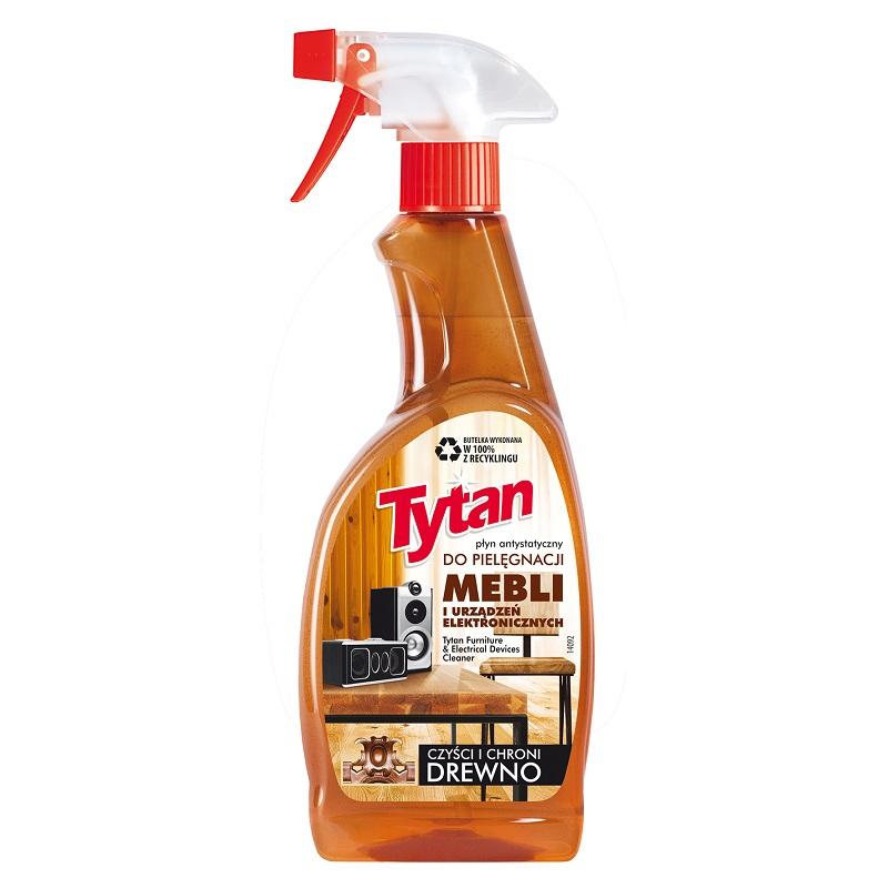 P27050 preparat do pielegnacji mebli i urządzen elektronicznych Tytan spray 500g kwadrat