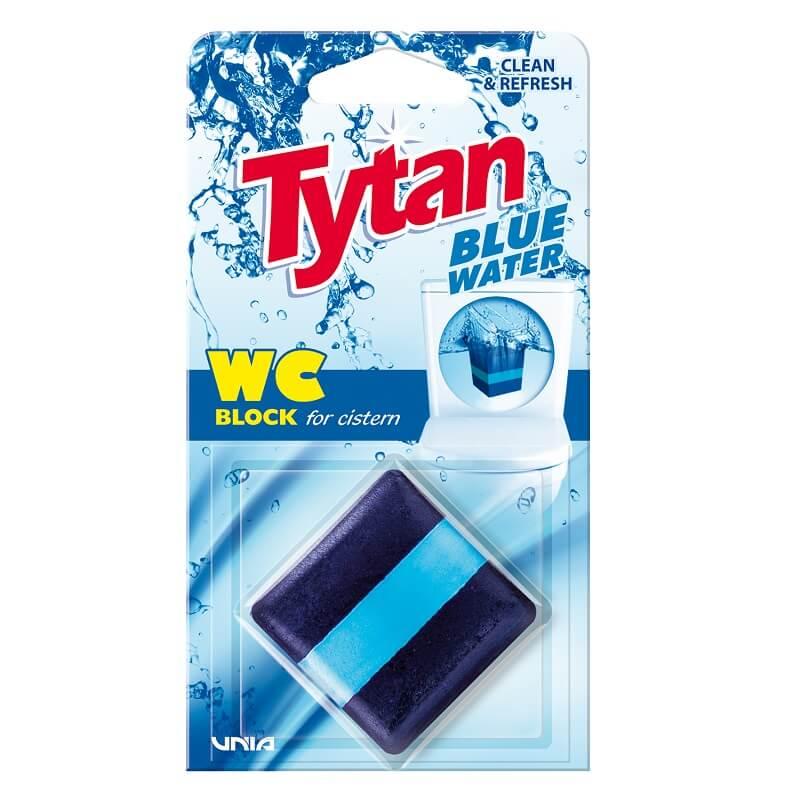 T53010 Kostka do spłuczki barwiąca wodę Tytan Blue Water 50g