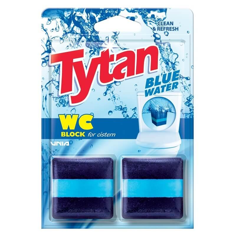 T53020 Kostka do spłuczki barwiąca wodę Tytan Blue Water 2x50g kwadrat
