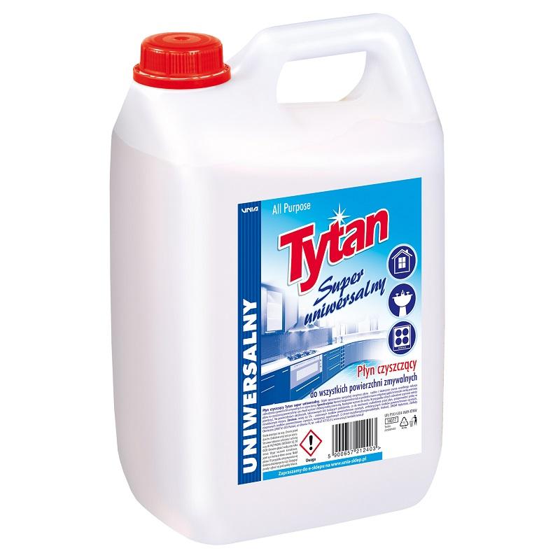 Płyn czyszczący Tytan super uniwersalny 5,0kg kwadrat